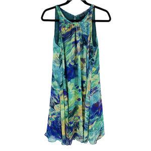 Gabby Skye Floral Sleeveless Swing Mini Dress 8
